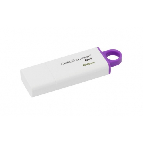 USB DISK KINGSTON DTIG4 64 GB, 3.0, belo-vijoličen, s pokrovčkom