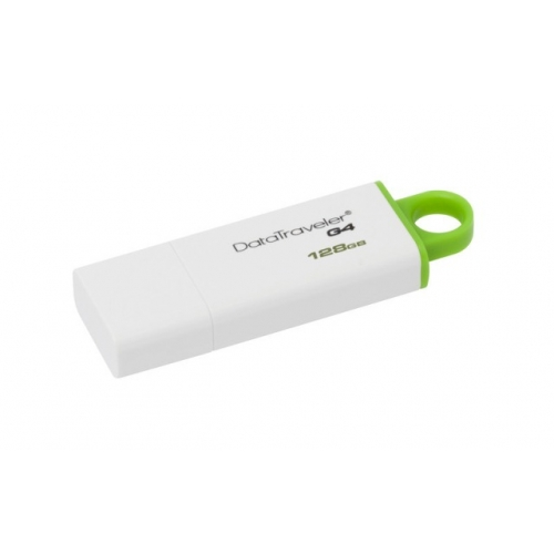 USB DISK KINGSTON 128GB DTIG4, 3.0, belo-zelen, s pokrovčkom