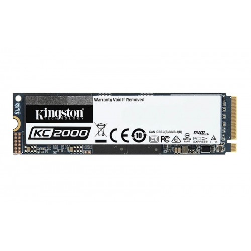 SSD Kingston M.2 PCIe NVMe 250GB KC2000, 3000/1100 MB/s, PCIe Gen 3 x4, 3D TLC NAND