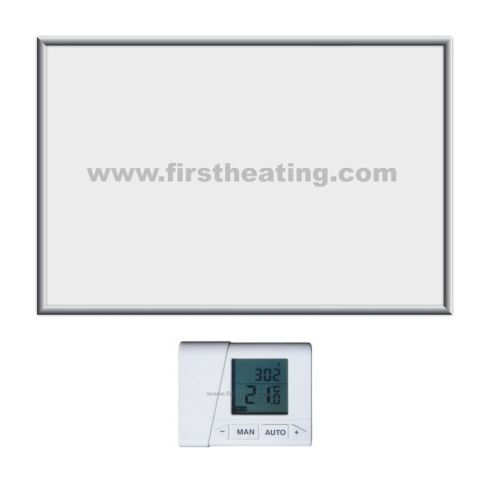 IR grelni panel First Heating ECO 1500 W - B/Č/BS/ČS termostat (90x60x3,5)