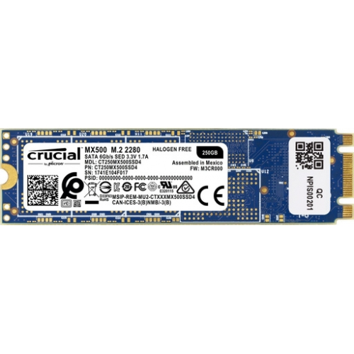 SSD 250GB M.2 80mm 2280 SS SATA3 3D TLC, CRUCIAL MX500 SSDCRU087