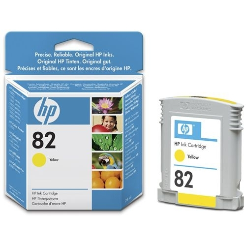 HP 82 28-ml Yellow Ink Cartridge YCH568A