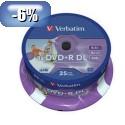 MEDIJ DVD+R VERBATIM 25PK printable tortica 084437