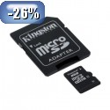 Spominska kartica microSD KINGSTON 8 GB C4 z SD adapterjem (SDC4/8GB)