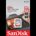 SanDisk 128GB Ultra SDXC UHS-I 80MB/s spominska kartica