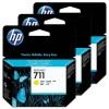HP 711 3-pack 29-ml Yellow Ink Cartridges YCZ136A